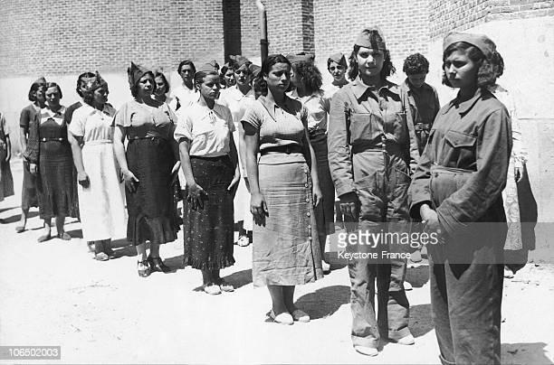 Madrilene Women In Military Training On July 30 1936 During The Spanish Civil War