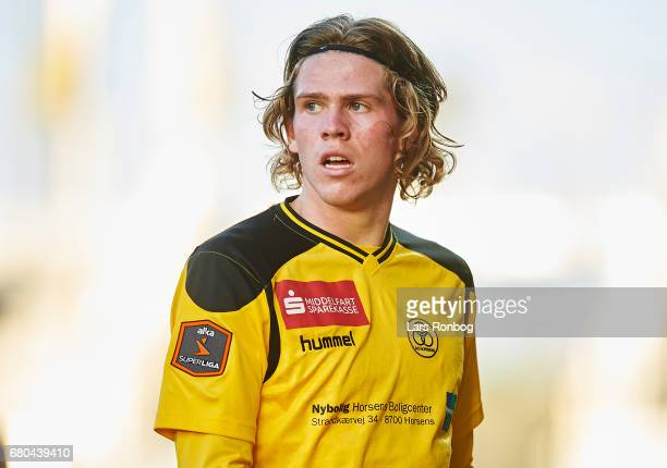 Mads Bech of AC Horsens looks on during the Danish Alka Superliga match between AC Horsens and Randers FC at Casa Arena on May 8 2017 in Horsens...