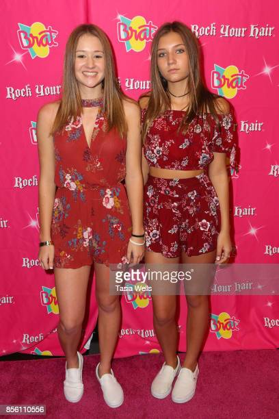 Mads LEwis and Riley Lewis at Rock Your Hair Presents Rock Back to School concert and party on September 30 2017 in Los Angeles California