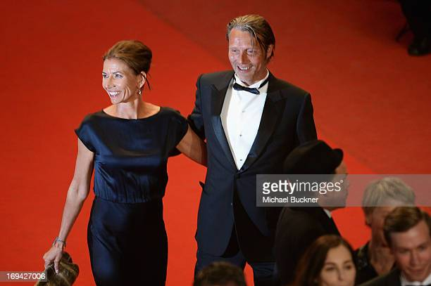 Mads Mikkelsen and Hanne Jacobsen attend the 'Michael Kohlhaas' premiere during The 66th Annual Cannes Film Festival at the Palais des Festival on...