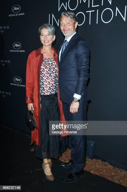 Mads Mikkelsen and his wife Hanne Jacobsen attend the Kering Women In Motion dinner during the 71st annual Cannes Film Festival at Place de la Castre...