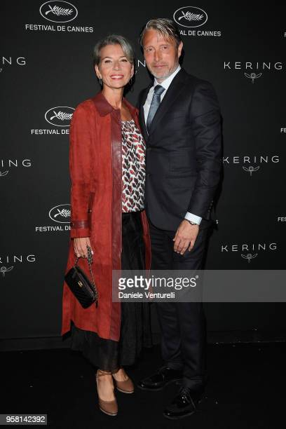 Mads Mikkelsen and his wife Hanne Jacobsen attend the Women in Motion Awards Dinner presented by Kering and the 71th Cannes Film Festival at Place de...