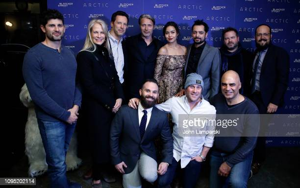 Mads Mikkelsen and Joe Penna attend 'Arctic' New York Screening at Metrograph on January 16 2019 in New York City