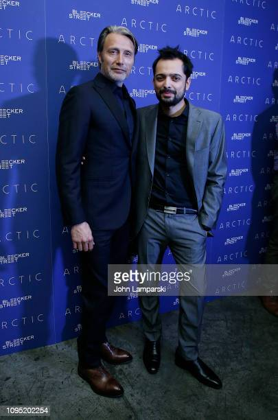 Mads Mikkelsen and Joe Penna attends 'Arctic' New York Screening at Metrograph on January 16 2019 in New York City