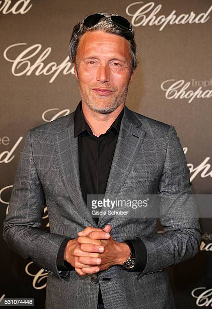 Mads Mikkelsen arrives at the Chopard Trophy Ceremony at the annual 69th Cannes Film Festival at Hotel Martinez on May 12 2016 in Cannes France