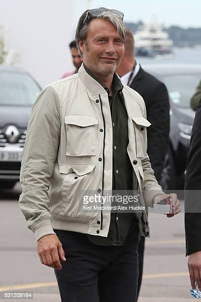 Mads Mikkelsen arriving at The Palais de Festival on May 13 2016 in Cannes France