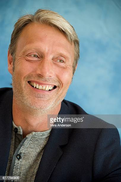 Mads Mikkelsen at the 'Doctor Strange' Press Conference at the Montage Hotel on October 20 2016 in Beverly Hills California