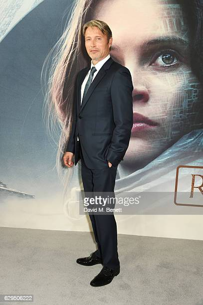 Mads Mikkelsen attends a fan screening of Rogue One A Star Wars Story at the BFI IMAX on December 13 2016 in London England