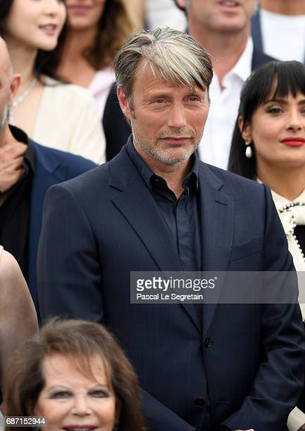 Mads Mikkelsen attends the 70th Anniversary Photocall during the 70th annual Cannes Film Festival at Palais des Festivals on May 23 2017 in Cannes...