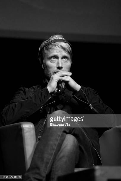 """Mads Mikkelsen attends the """"Druk """" Press Conference during the 15th Rome Film Festival on October 20, 2020 in Rome, Italy."""