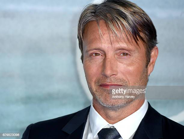 """Mads Mikkelsen attends the launch event for """"Rogue One: A Star Wars Story"""" at Tate Modern on December 13, 2016 in London, England."""