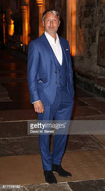 Mads Mikkelsen attends the red carpet launch event for Doctor Strange at Westminster Abbey on October 24 2016 in London United Kingdom