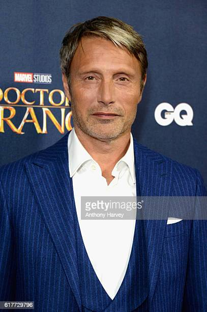 Mads Mikkelsen attends the red carpet launch event for 'Doctor Strange' at Westminster Abbey on October 24 2016 in London United Kingdom