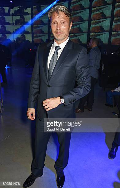 Mads Mikkelsen attends the Rogue One A Star Wars Story launch event after party at the Tate Modern on December 13 2016 in London England