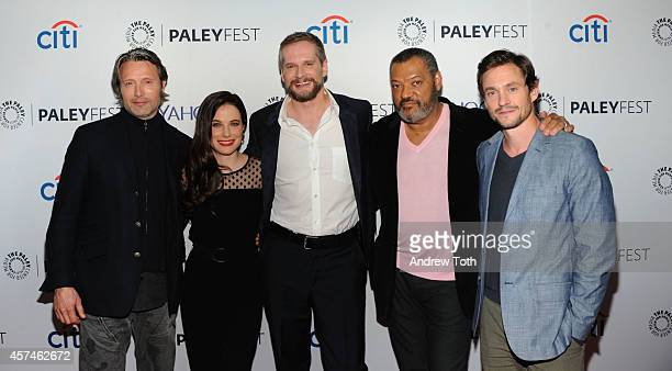 Mads Mikkelsen Caroline Dhavernas Bryan Fuller Laurence Fishburne and Hugh Dancy attend the 2nd annual Paleyfest New York presents 'Hannibal' at...