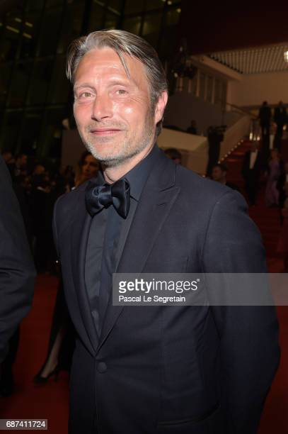 Mads Mikkelsen leaves the 70th Anniversary of the 70th annual Cannes Film Festival at Palais des Festivals on May 23 2017 in Cannes France