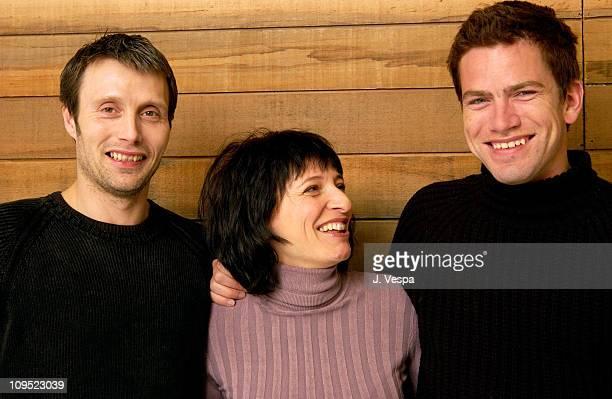 Mads Mikkelsen, Susanne Bier, director/co-writer, and Nikolaj Lie Kaas
