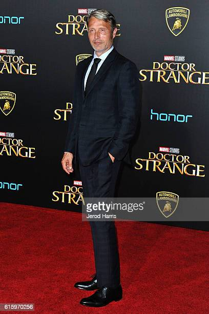 Mads Mikkelson arrives at the Premiere of Disney and Marvel Studios' 'Doctor Strange' on October 20, 2016 in Hollywood, California.