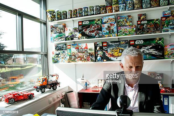 Mads Nipper chief marketing officer of Lego A/S works in his office during an interview at the company's headquarters in Billund Denmark on Thursday...
