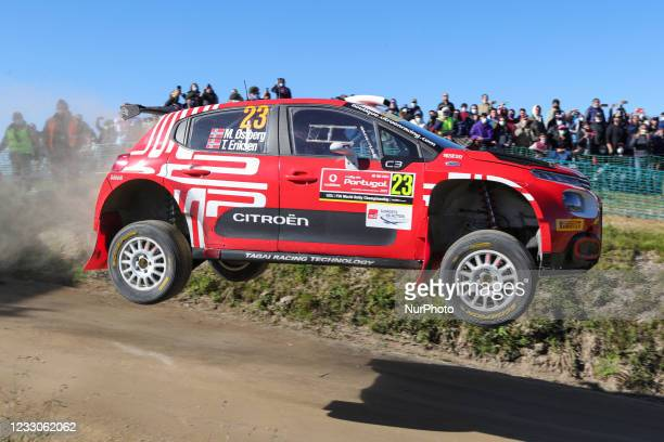Mads OSTBERG and Torstein ERIKSEN in CITROEN C3 of TRT WORLD RALLY TEAM in action during the SS18 - Fafe 1 of the WRC Vodafone Rally Portugal 2021 in...