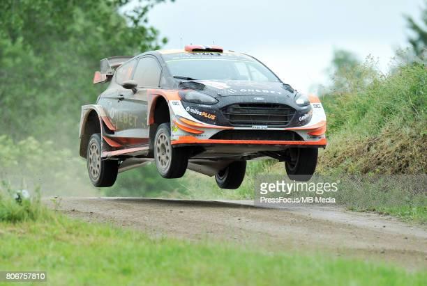 Mads Ostberg NOR Ola Floene NOR M Sport World Rally Team during the WRC Orlen 74 Rally Poland on July 02 2017 in Mikolajki Poland