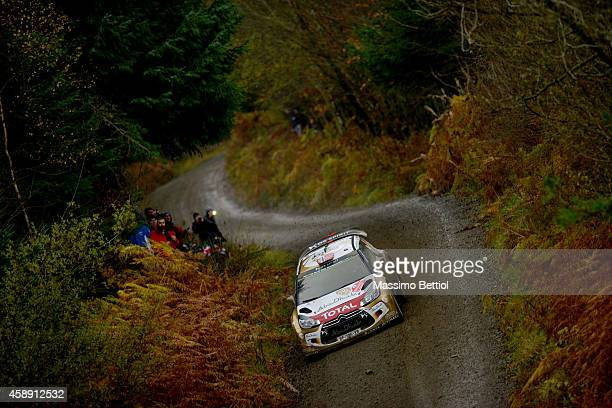 Mads Ostberg of Norway and Jonas Andersson of Sweden compete in their Citroen Total Abu Dhabi WRT Citroen DS3 WRC during the Sakedown of the WRC...