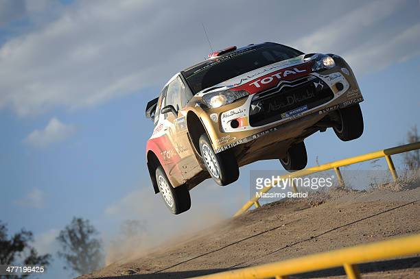 Mads Ostberg of Norway and Jonas Andersson of Sweden compete in their Citroen Total Abu Dhabi WRT Citroen DS3 WRC during Day One of the WRC Mexico on...