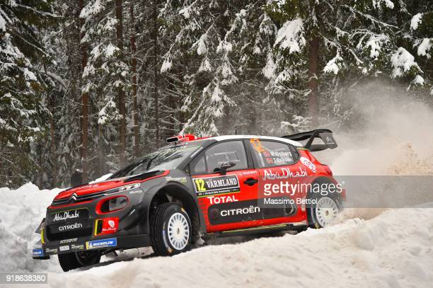 Mads Ostberg of Norway and Torstein Eriksen of Norway compete in ther Citroen Total Abu Dhabi WRT Citroen C3 WRC during the Shakedown of the WRC...