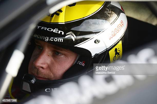 Mads Ostberg of Norway during the Shakedown of the WRC Finland on July 31 2014 in Jyvaskyla Finland