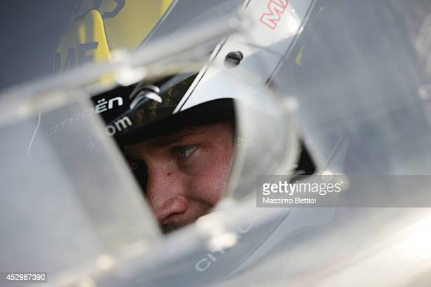 Mads Ostberg of Norway portrait during the Shakedown of the WRC Finland on July 31 2014 in Jyvaskyla Finland