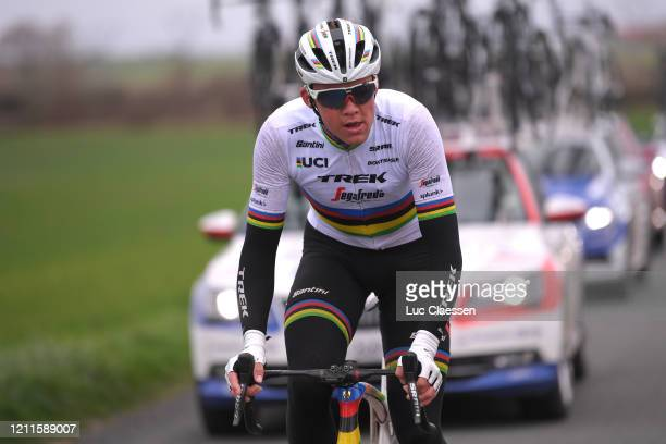 Mads Pedersen of Denmark and Team Trek - Segafredo / during the 78th Paris - Nice 2020, Stage 3 a 212,5km stage from Chalette-sur-Loing to La Châtre...