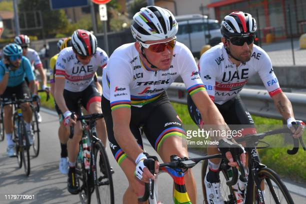 Mads Pedersen of Denmark and Team Trek-Segafredo / Diego Ulissi of Italy and UAE - TeamEmirates / during the 99th Tre Valli Varesine 2019 a 197,8km...