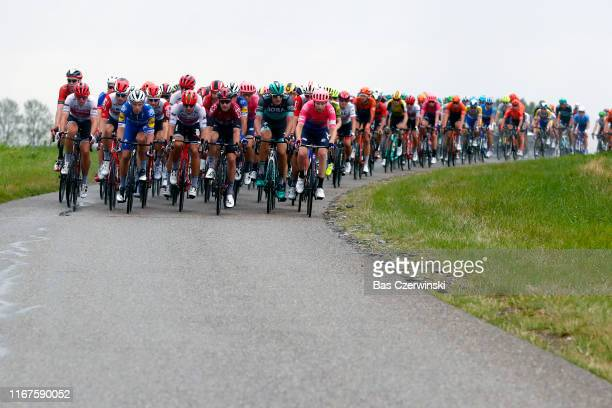 Mads Pedersen of Denmark and Team Trek-Segafredo / Iljo Keisse of Belgium and Team Deceuninck-QuickStep / Tim Wellens of Belgium and Team Lotto...