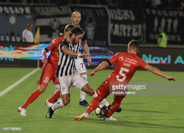 Mads Pedersen of FC Nordsjalland in action during the UEFA Europa League third qualifying round 2nd leg match between FK Partizan and FC Nordsjalland...