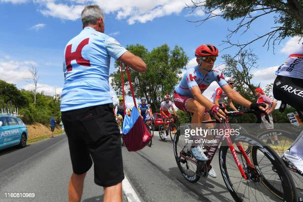 Mads Wurtz Schmid of Denmark and Team Katusha-Alpecin / Feed Zone / Soigneur / during the 106th Tour de France 2019, Stage 3 a 215km stage from...