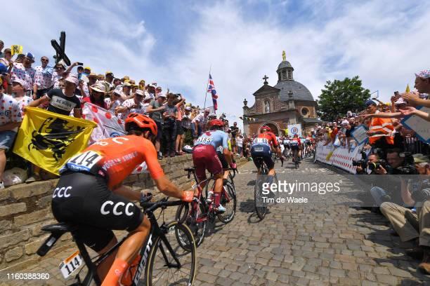 Mads Wurtz Schmid of Denmark and Team Katusha-Alpecin / Xandro Meurisse of Belgium and Team Wanty-Gobert / Greg Van Avermaet of Belgium and CCC Team...