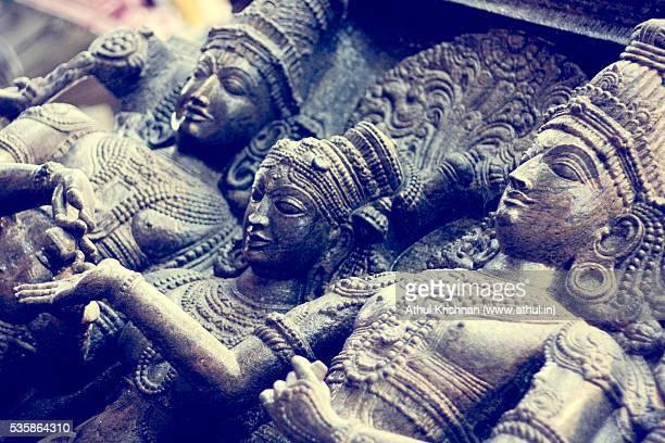 Madurai Meenakshi temple sculpted statue