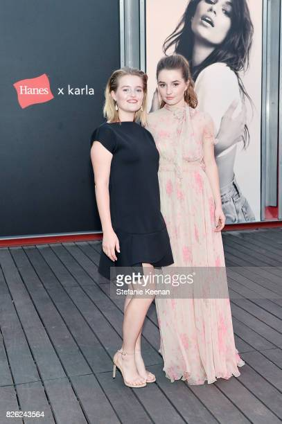 Mady Dever and Kaitlyn Dever at x karla Launch Party at Maxfield on August 3 2017 in Los Angeles California