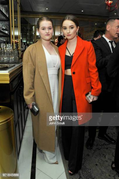 Mady Dever and Kaitlyn Dever attend GQ and Oliver Peoples Celebrate Timothee Chalamet March Cover Dinner at Nomad Los Angeles on February 20 2018 in...