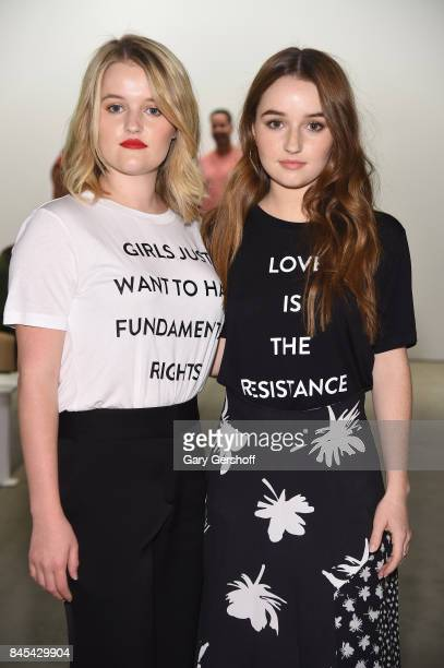 Mady Dever and Kaitlyn Dever attend the Prabal Gurung fashion show during New York Fashion Week at Gallery 2 Skylight Clarkson Sq on September 10...