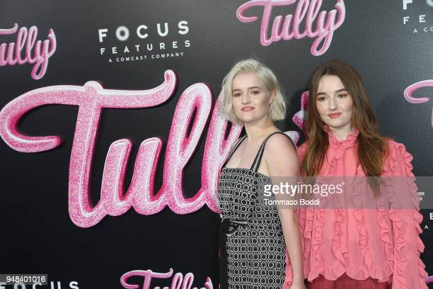 Mady Dever and Kaitlyn Dever attend the Premiere Of Focus Features' Tully at Regal LA Live Stadium 14 on April 18 2018 in Los Angeles California