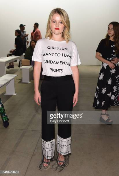 Mady Dever attends the Prabal Gurung fashion show during New York Fashion Week at Gallery 2 Skylight Clarkson Sq on September 10 2017 in New York City