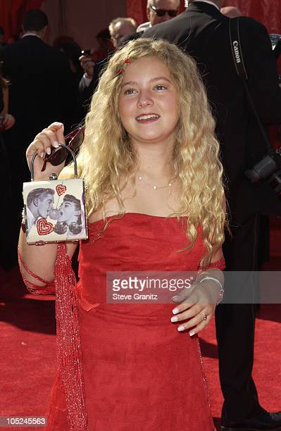 Madylin Sweeten during The 55th Annual Primetime Emmy Awards Arrivals at The Shrine Theater in Los Angeles California United States