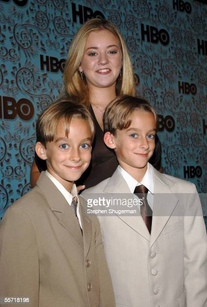 Madylin Sweeten with brothers Sawyer Sweeten and Sullivan Sweeten of Everyone Loves Raymond arrives at the HBO Emmy after party held atThe Plaza at...