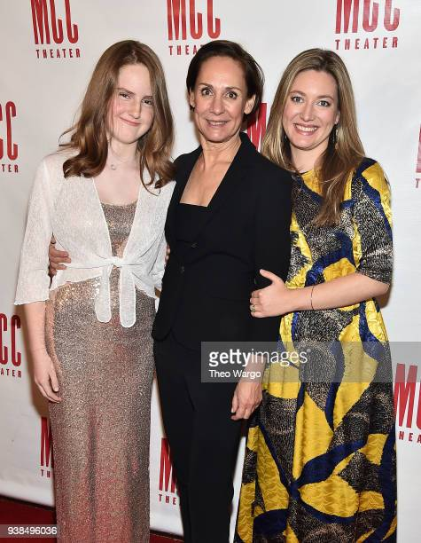 Mae Akins Roth Laurie Metcalf and Zoe Perry attend Miscast 2018 Honors Laurie Metcalf at Hammerstein Ballroom on March 26 2018 in New York City