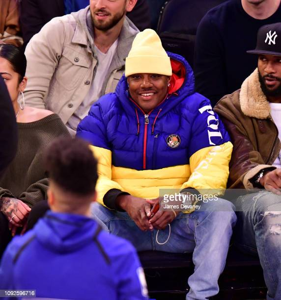 Ma$e attends Boston Celtics v New York Knicks game at Madison Square Garden on February 1 2019 in New York City
