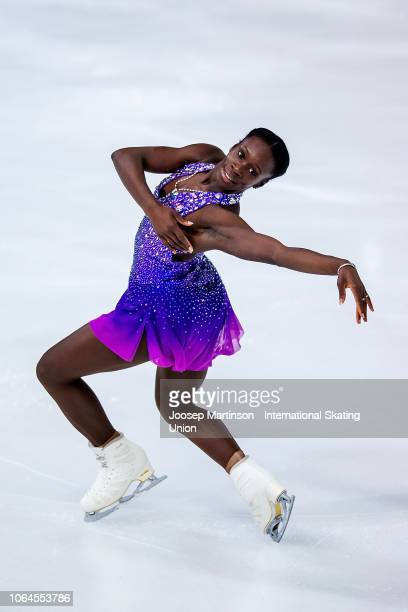 Mae Berenice Meite of France competes in the Ladies Short Program during day 1 of the ISU Grand Prix of Figure Skating Internationaux de France at...