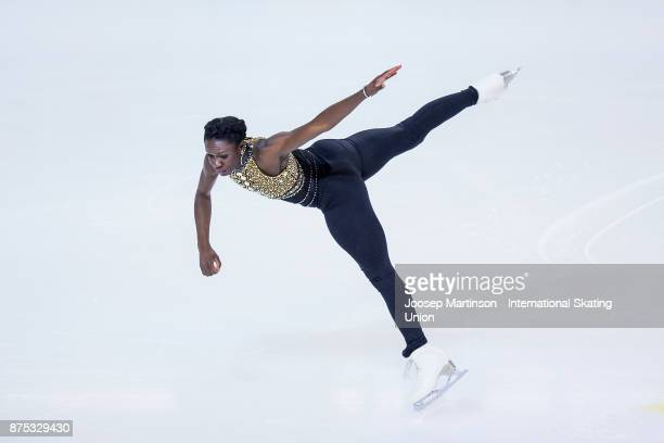 Mae Berenice Meite of France competes in the Ladies Short Program during day one of the ISU Grand Prix of Figure Skating at Polesud Ice Skating Rink...