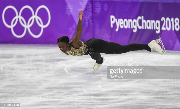 Mae Berenice Meite of France competing in free dance at Gangneung Ice Arena Gangneung South Korea on February 21 2018