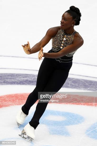 Mae Berenice Meite of France performs during the Ladies Short event on the first day of the ISU GP Rostelecom Cup 2017 at the Megasport Arena in...